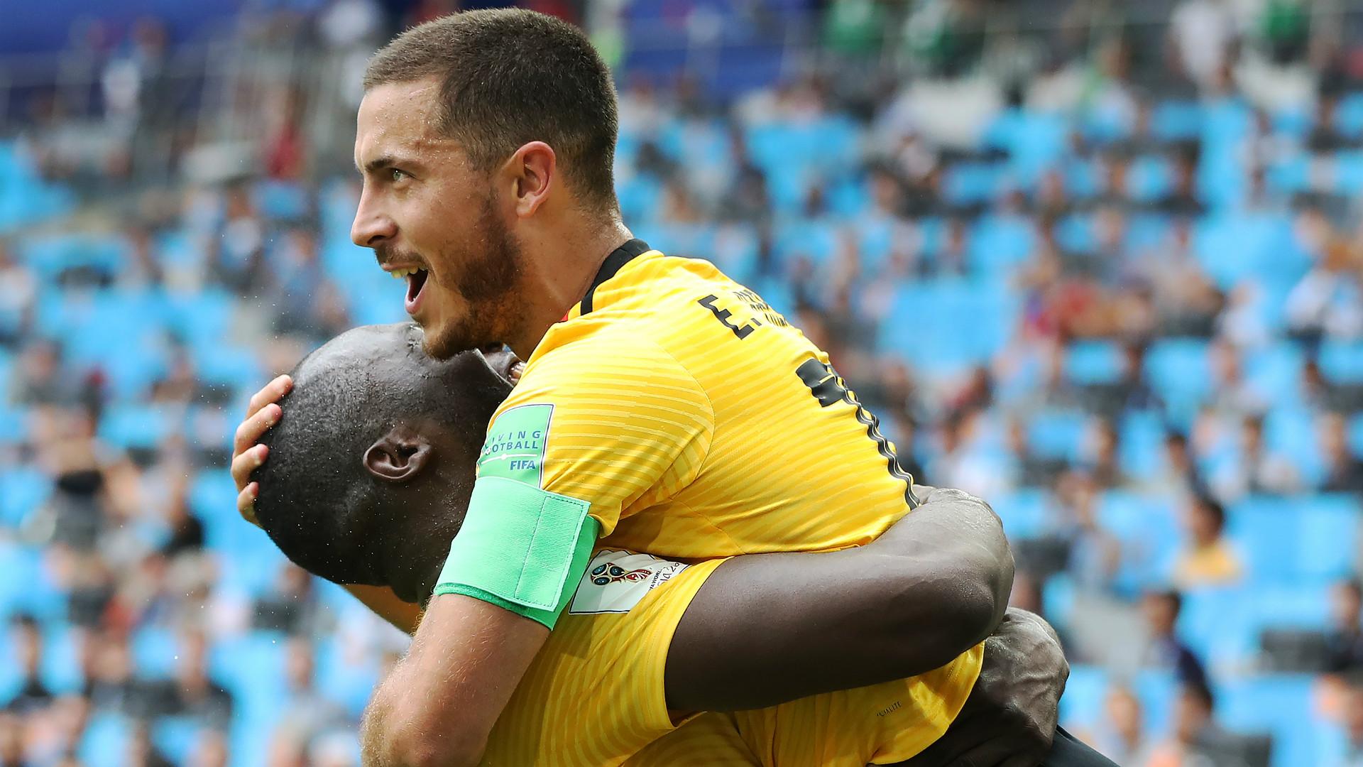 Romelu Lukaku Eden Hazard Belgium 2018 World Cup