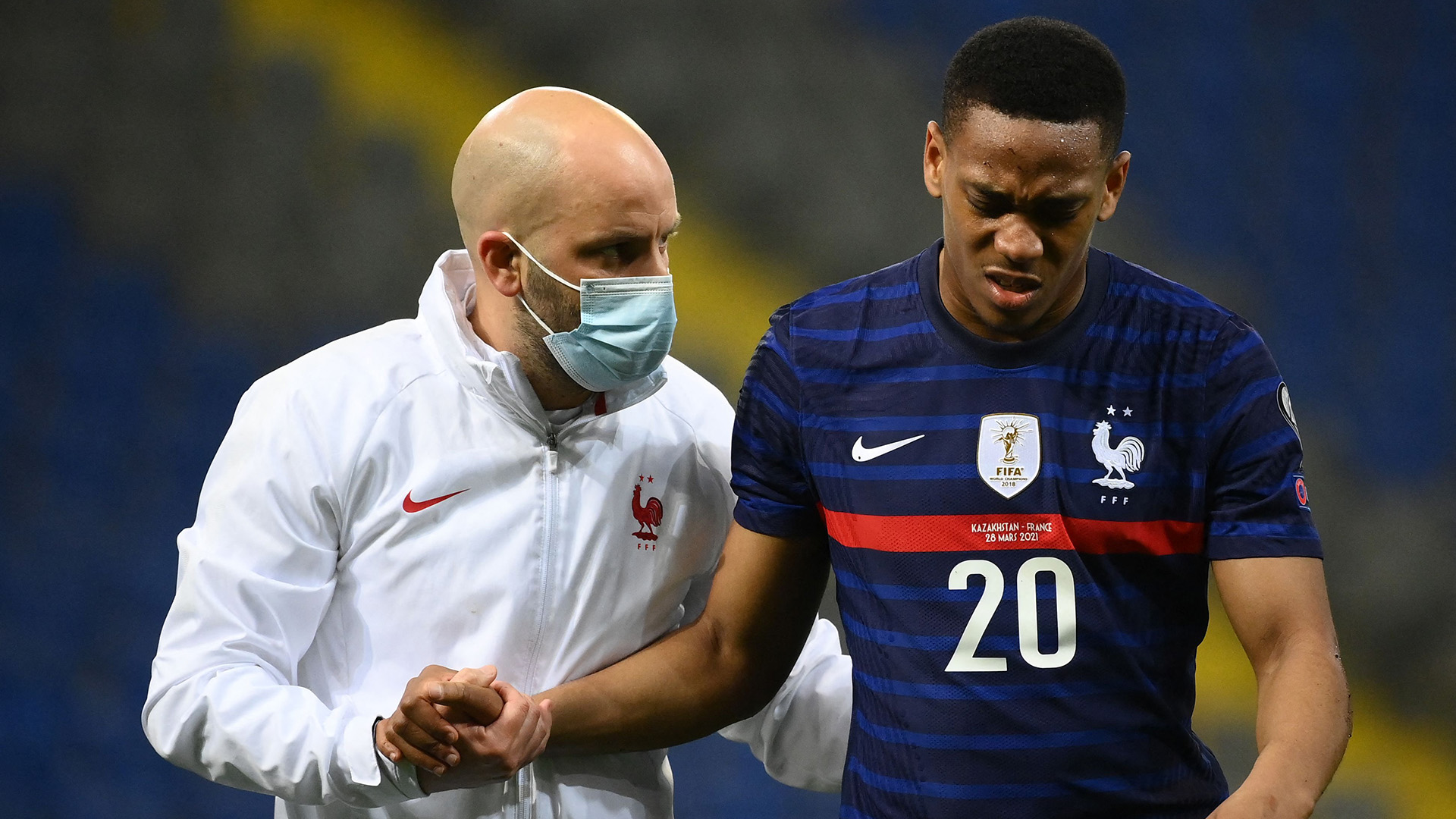 Martial offers fitness update after five months out at Man Utd