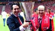 Unai Emery Sevilla Europa League trophy 2015