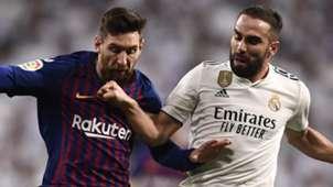 Lionel Messi Dani Carvajal Barcelona Real Madrid