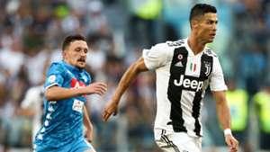 Cristiano Ronaldo Mario Rui Juventus Napoli Serie A