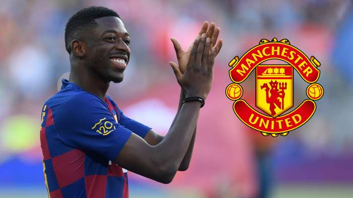 Ousmane Dembele, Barcelona, Man Utd badge