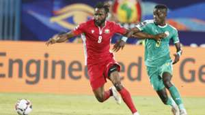 Johanna Omollo of Kenya and Harambee Stars v Idrissa Guye of Senegal.