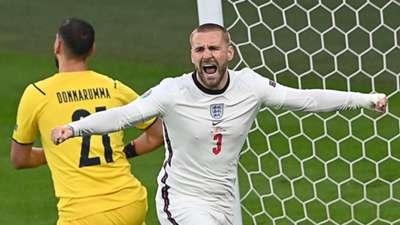 Luke Shaw England Italy Euro 2020