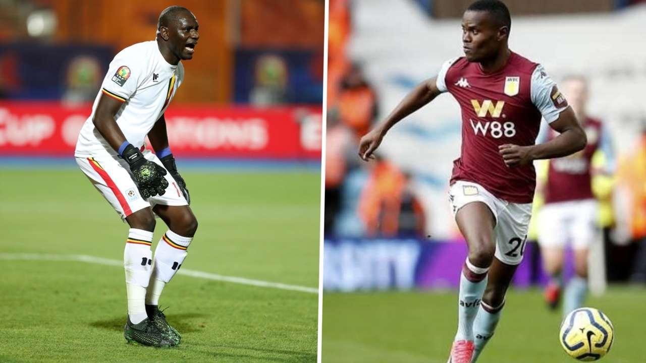 Denis Onyango of Uganda and Mamelodi Sundown and Mbwana Samatta of Aston Villa.