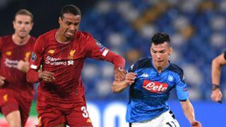 Joel Matip Hirving Lozano Liverpool Napoli 2019-20