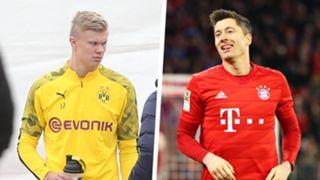 GFX Erling Haaland Robert Lewandowski Split 2019-20