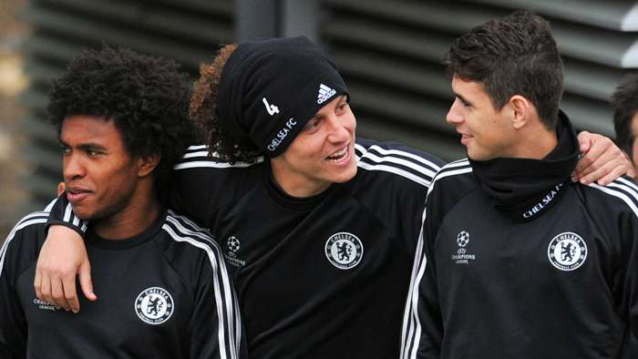 Willian David Luiz Oscar Chelsea