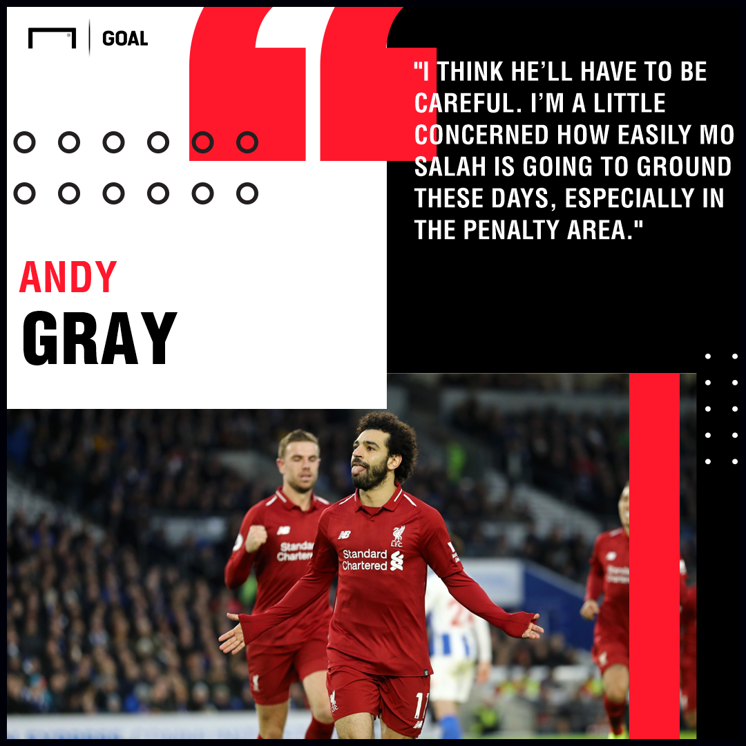 Mohamed Salah Andy Gray Liverpool PS