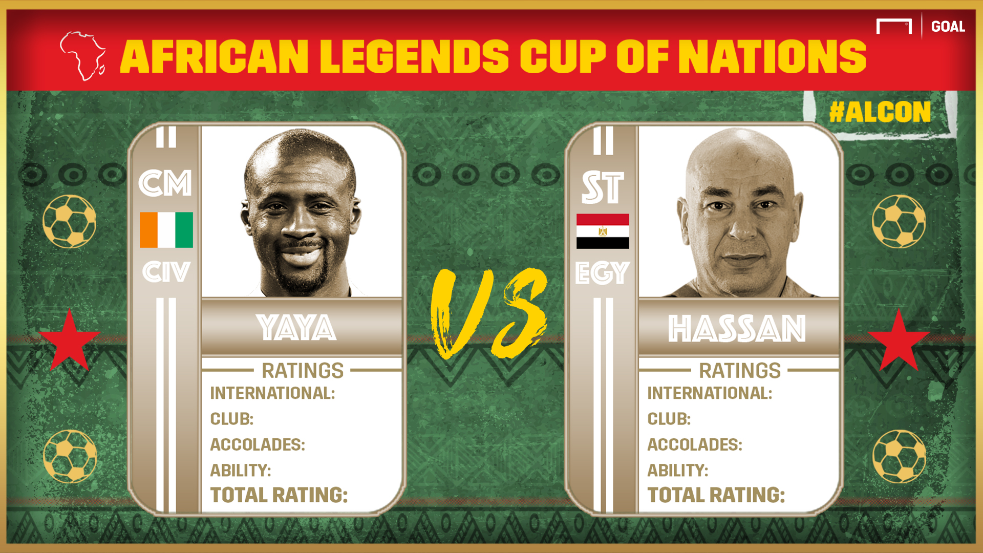 African Legends Cup of Nations: Yaya vs Hassan