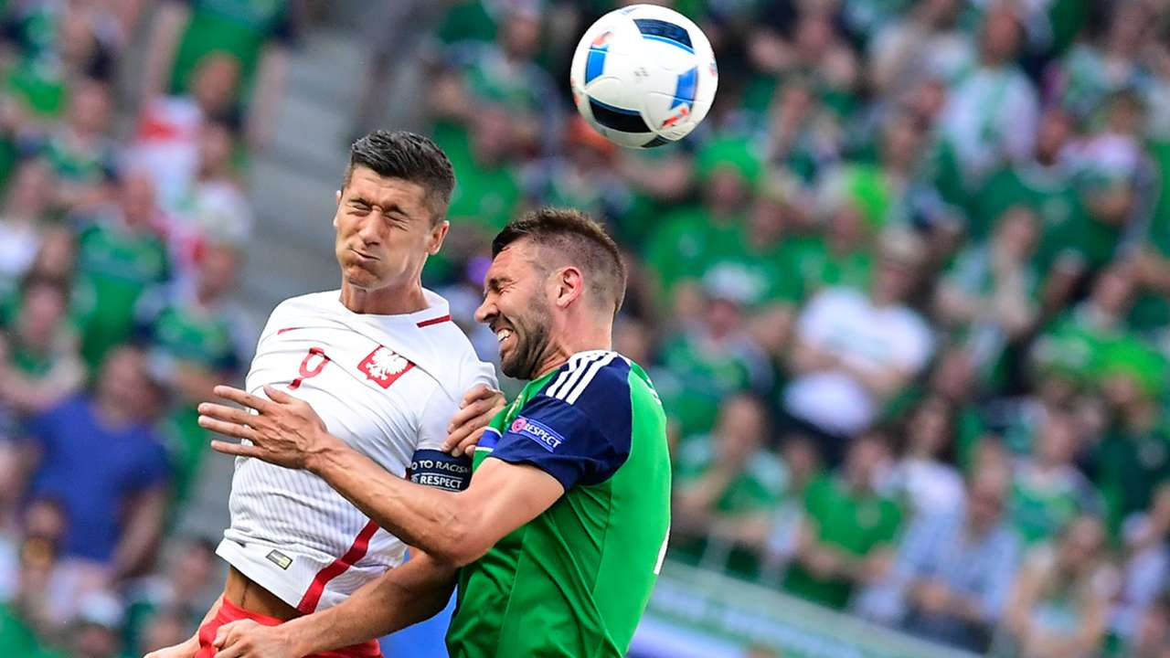 Robert Lewandowski Poland Northern Ireland Euro 2016