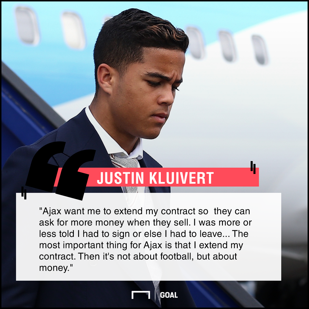 GFX Info Justin Kluivert Ajax quote