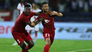 Asamoah Gyan gives rendition of popular Bob Marley song to NorthEast United teammate