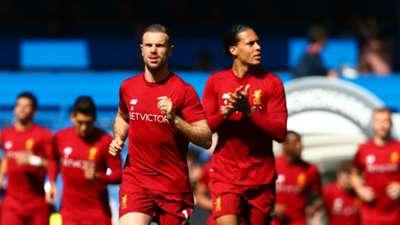 Jordan Henderson Virgil Van Dijk Liverpool Squad