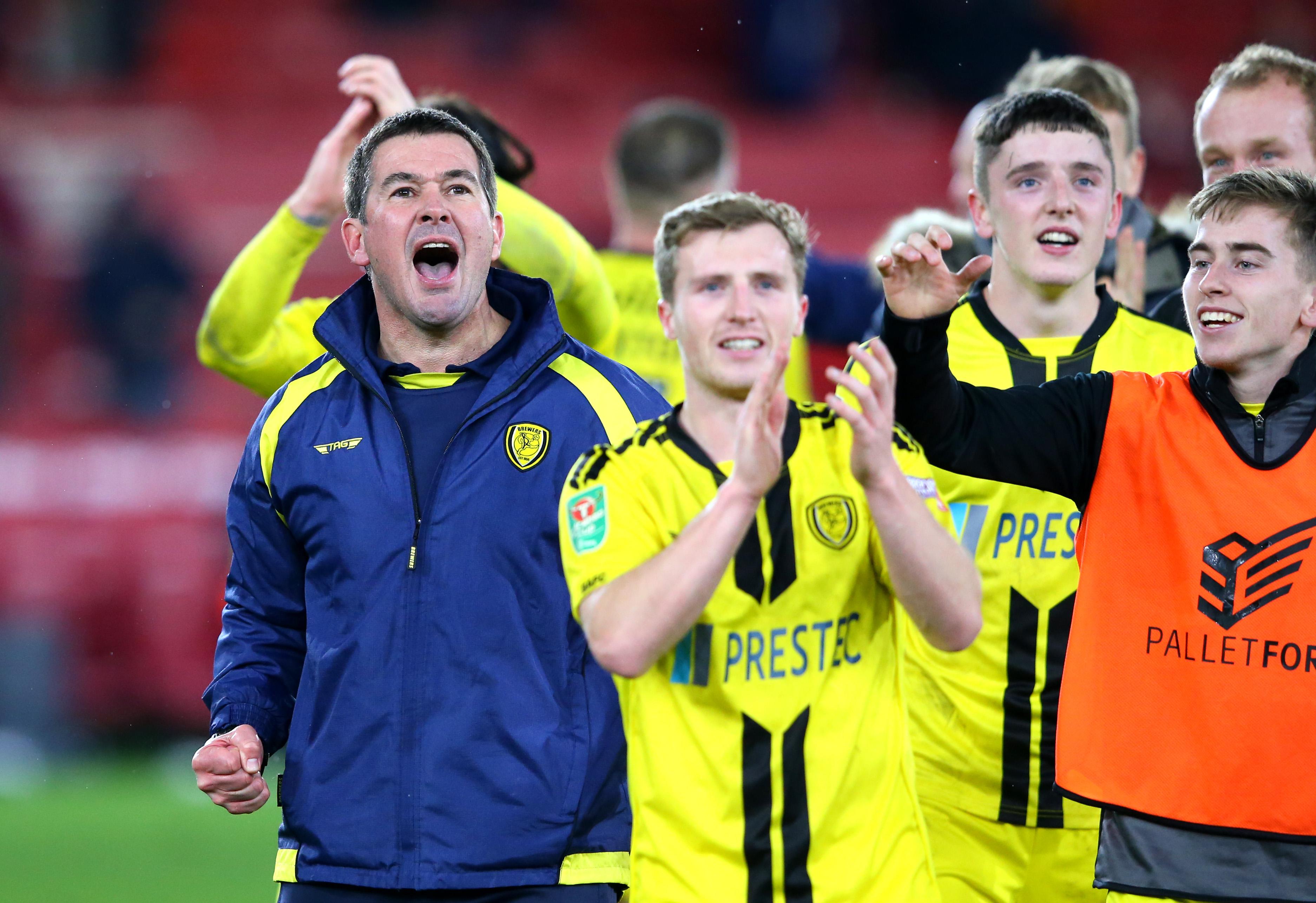 Brian Clough Burton Albion celebrate vs Middlesbrough 181218