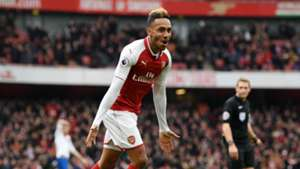 Pierre-Emerick Aubameyang Arsenal Stoke 010418