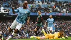 Raheem Sterling Goal Celebration Manchester City v Aston Villa 26102019