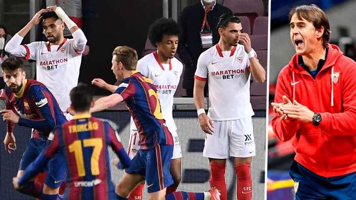 Sevilla Barcelona Julen Lopetegui 2020-21