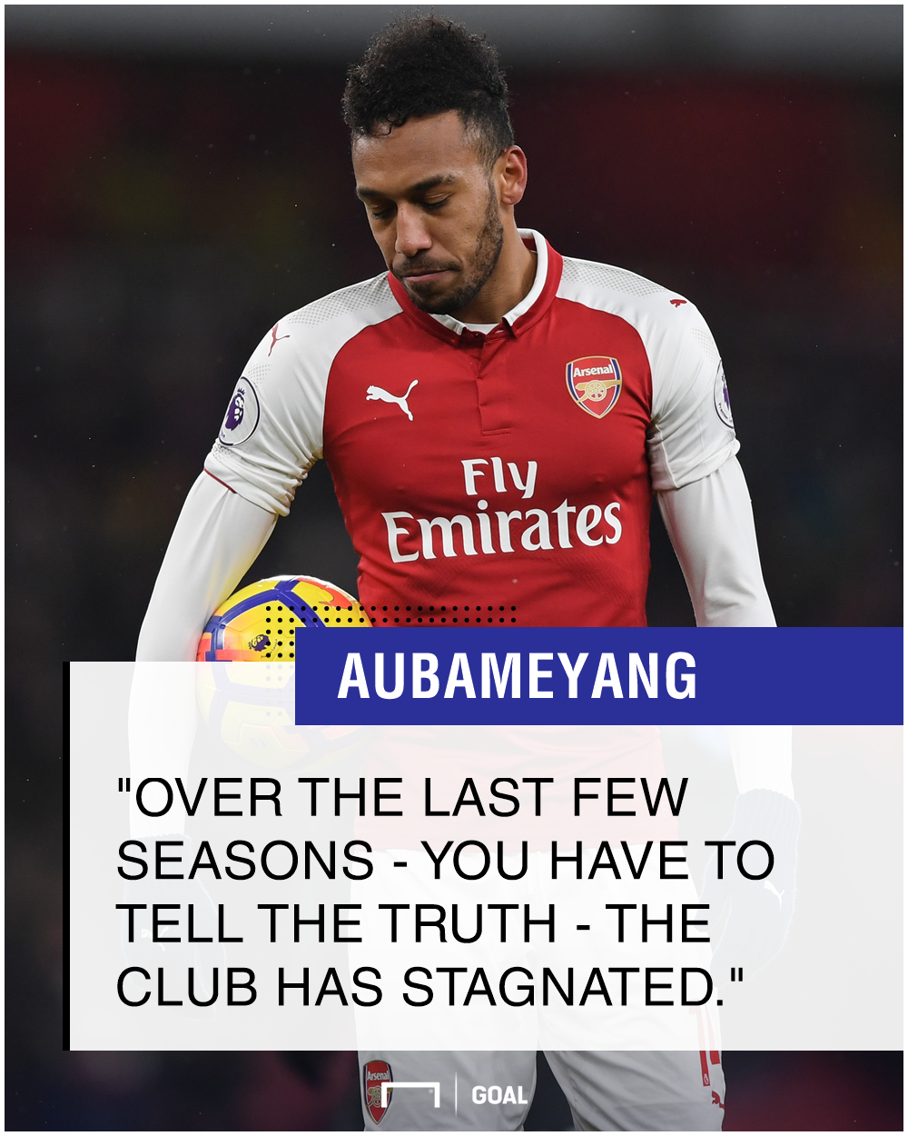 Pierre-Emerick Aubameyang Arsenal stagnated