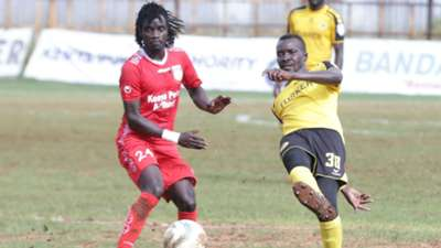 Wadri William of Bandari FC vs Humprey Mieno of Tusker FC.
