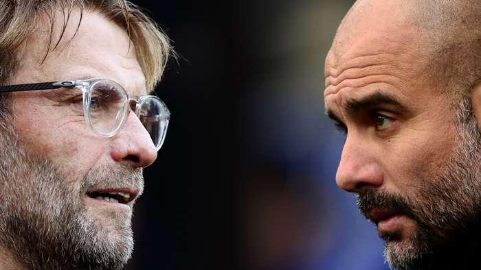 Jurgen Klopp Pep Guardiola Liverpool Man City
