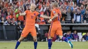 Wesley Sneijder, Arjen Robben, Nederland - Luxemburg, 09072017