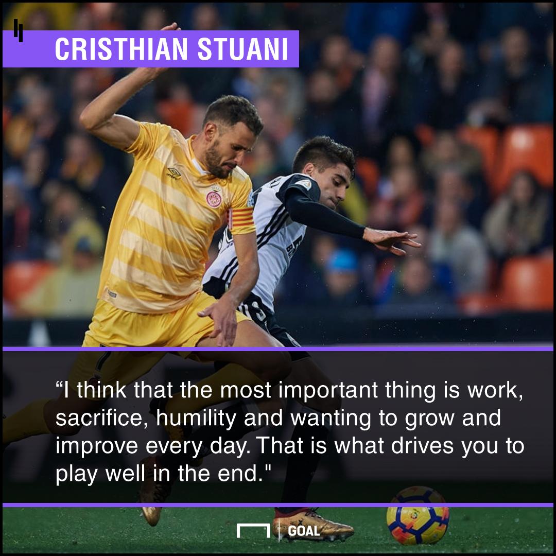 GFX Info Christhian Stuani quote