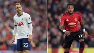 Christian Eriksen Fred Tottenham Man Utd
