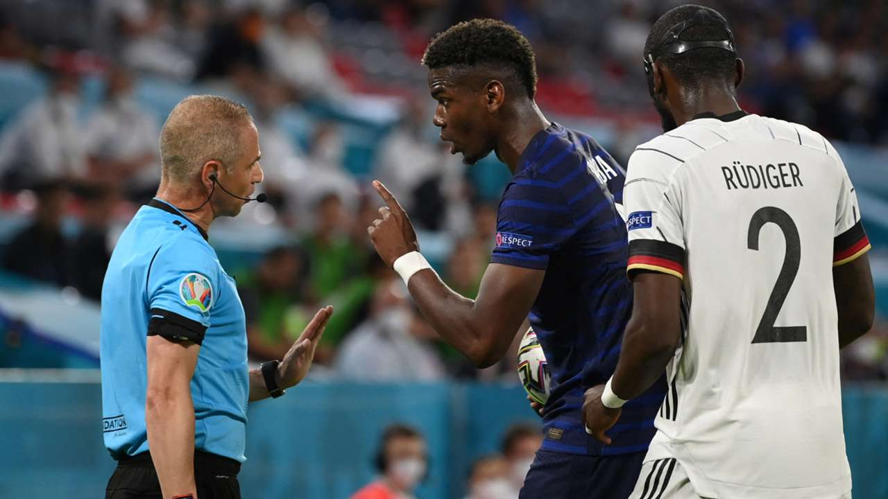 Paul Pogba Antonio Rudiger France Germany Euro 2020