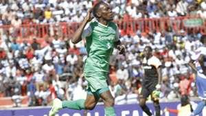 Gor Mahia striker Meddie Kagere celebrates against AFC Leopards.