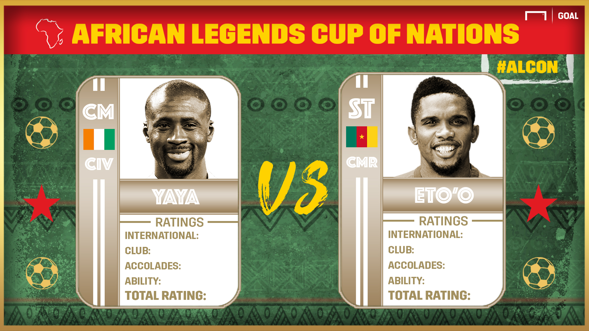African Legends Cup of Nations: Eto'o vs Yaya
