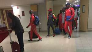 DR Congo players arrive in Kenya