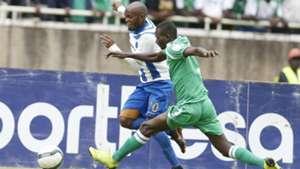 Whyvonne Isuza of AFC Leopards v Samuel Onyango of Gor Mahia.