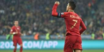 Cristiano Ronaldo Ukraine Portugal Euro 2020 qualification match