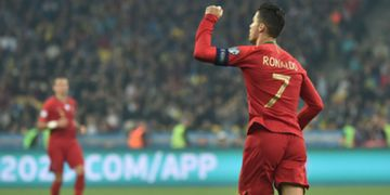 Cristiano Ronaldo Ukraine Portugal Euro 2020 qualification match