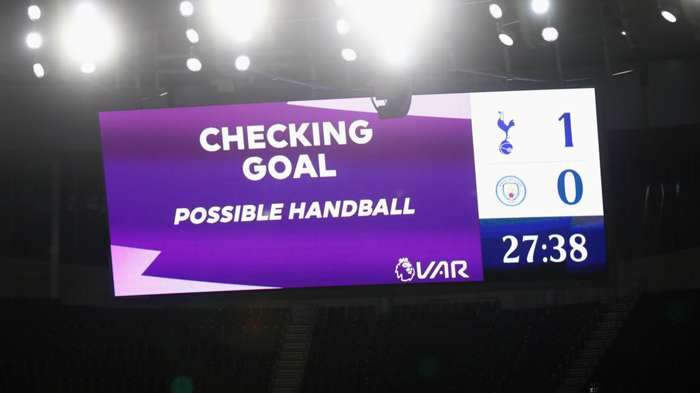 VAR handball Tottenham vs Man City Premier League 2020-21