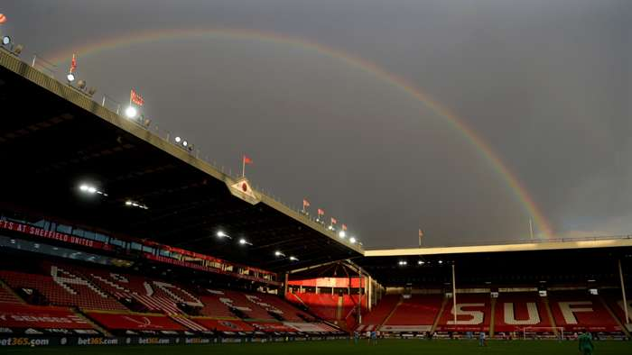 Sheffield United stadium rainbow