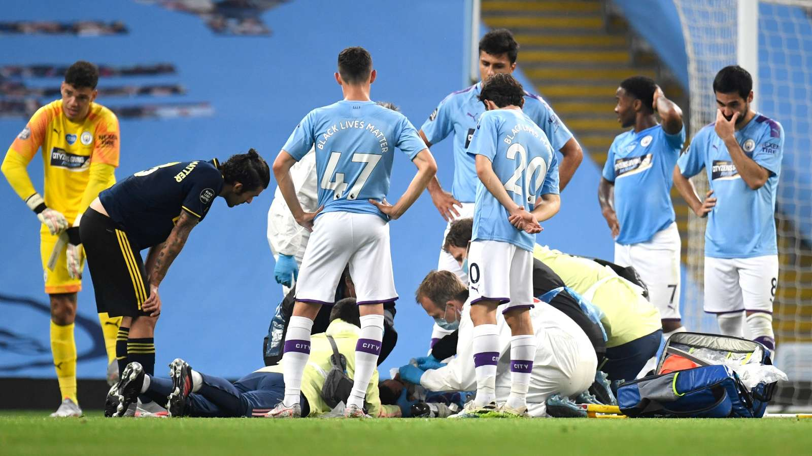 Garcia injury Manchester City