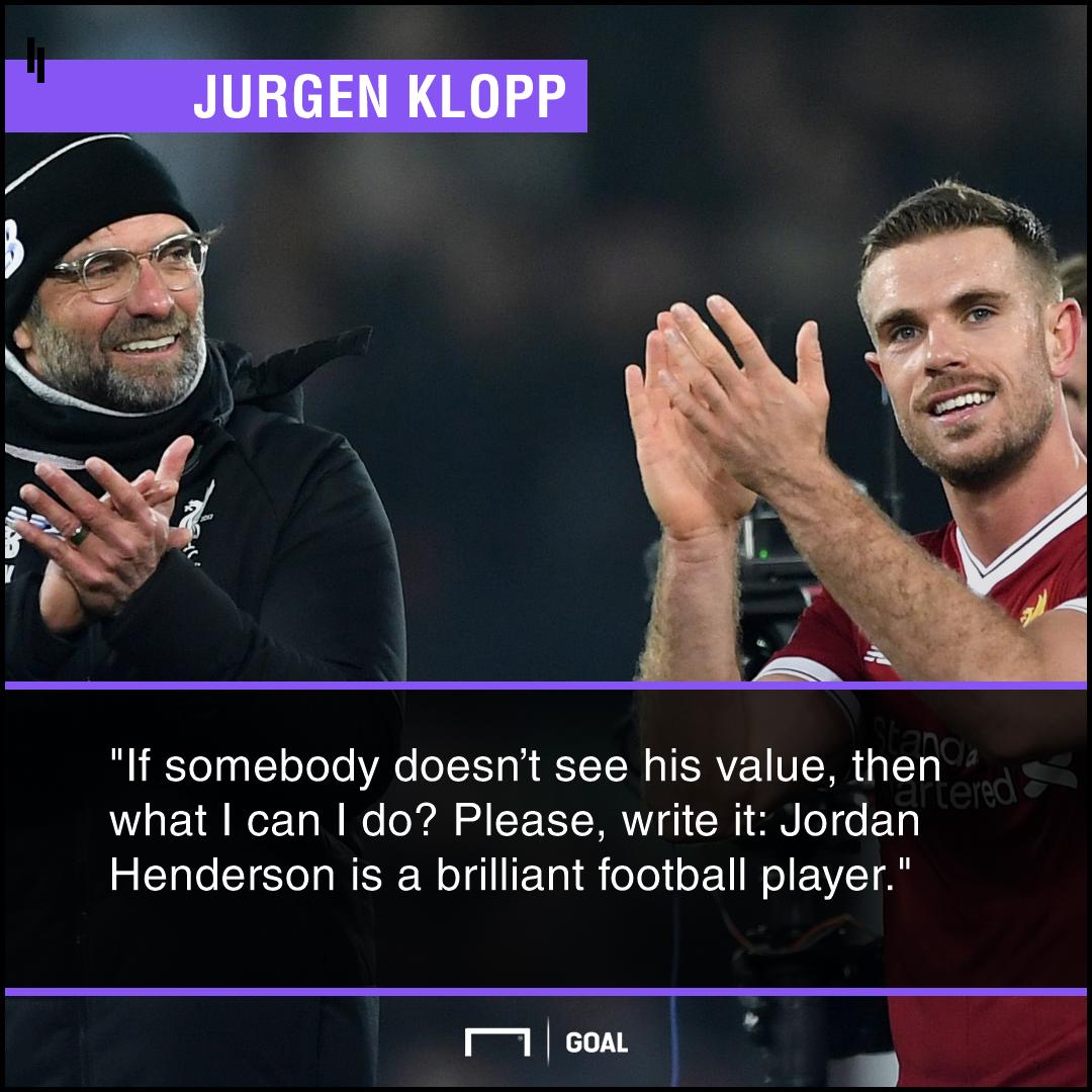 Jordan Henderson Klopp Liverpool PS