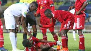 Harun Shakava of Gor Mahia v Nyasa Big Bullets of Malawi.
