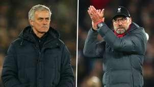 Jose Mourinho Jurgen Klopp Tottenham Liverpool