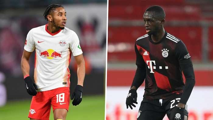 Christopher Nkunku RB Leipzig Tanguy Nianzou Bayern Munich GFX