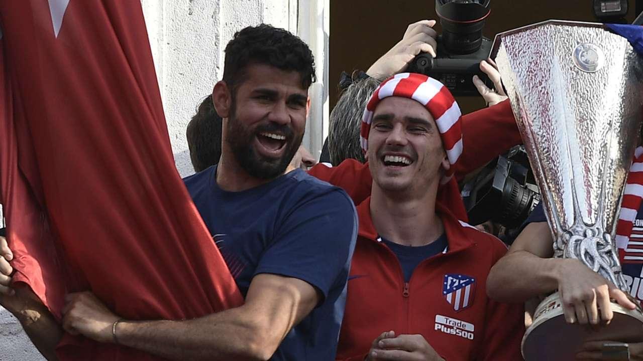 Diego Costa Antoine Griezmann Atletico Madrid 2018