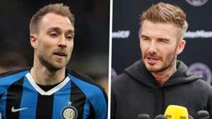 Christian Eriksen Inter Milan David Beckham Inter Miami 2019-20