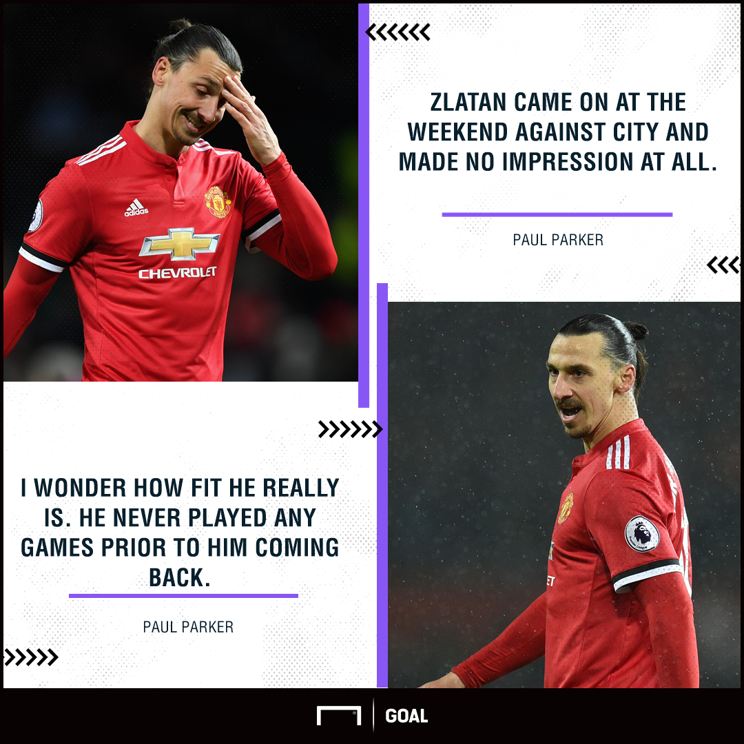 Zlatan Ibrahimovic Paul Parker Manchester United no impression