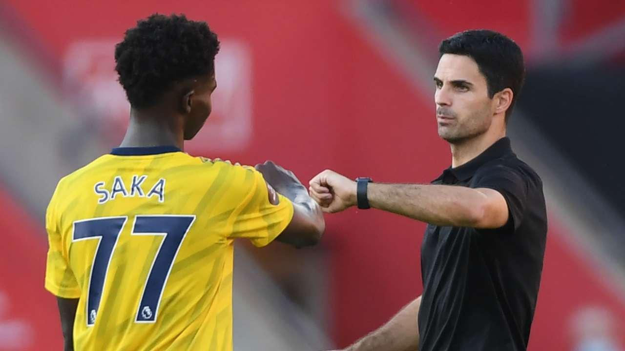 Bukayo Saka Mikel Arteta Arsenal