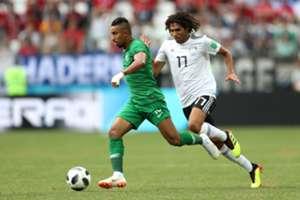 Salem Aldawsari,  Mohamed Elneny Saudi Arabia vs Egypt