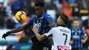 Duvan Zapata Giuseppe Pezzella Udinese Atalanta Serie A