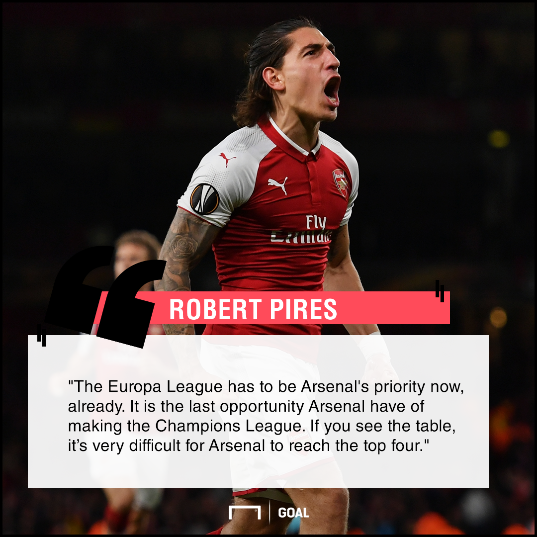 Robert Pires Arsenal Europa League priority