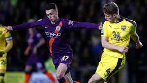 Phil Foden Rob Dickie Manchester City Oxford League Cup 25092018